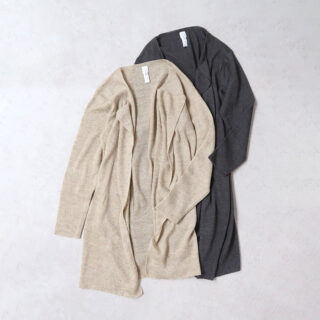 YAECA ヤエカ |リラックスニット ロングカーディガン【全2色】