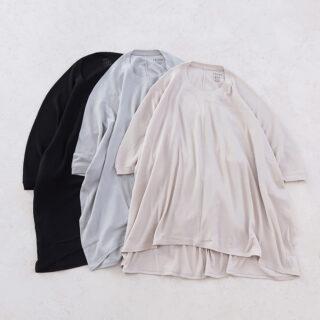 1dozen イチダース |オーガニックコットンシフォン ドレープシャツ【全3色】