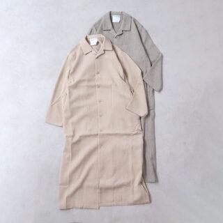 YAECA ヤエカ  パジャマシャツ ロング【全2色】