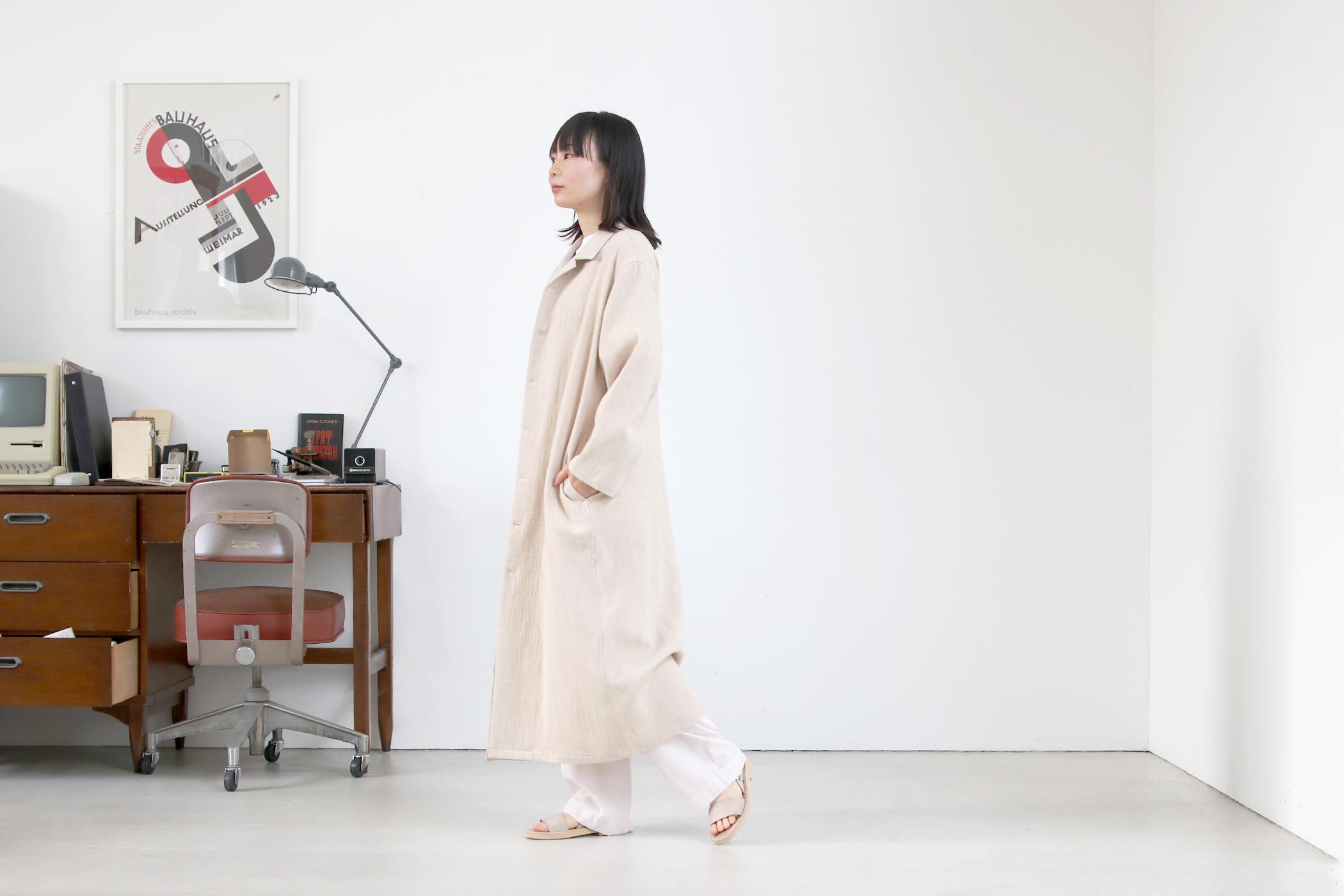 パジャマシャツ ロング【全2色】