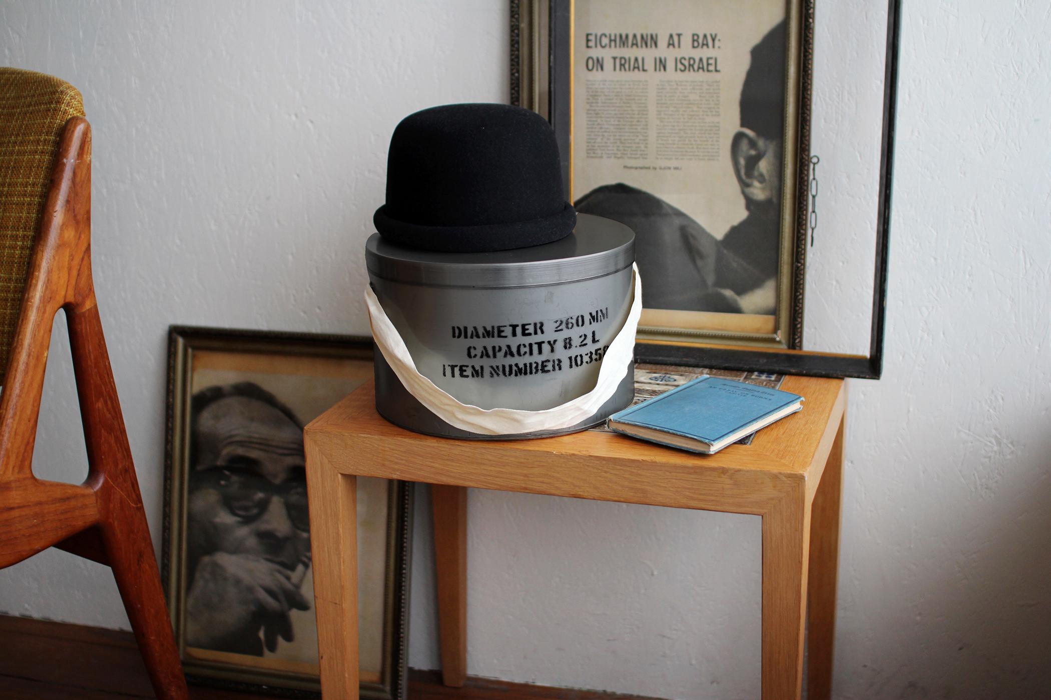 STEEL HAT BOX