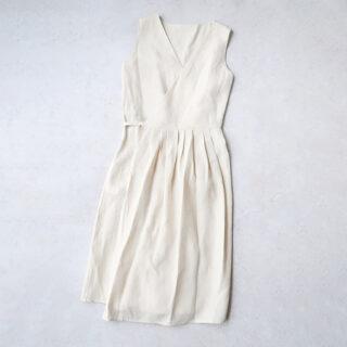 OLDMANS TAILOR オールドマンズテーラー  DENSELY LINEN CROSS OVER DRESS