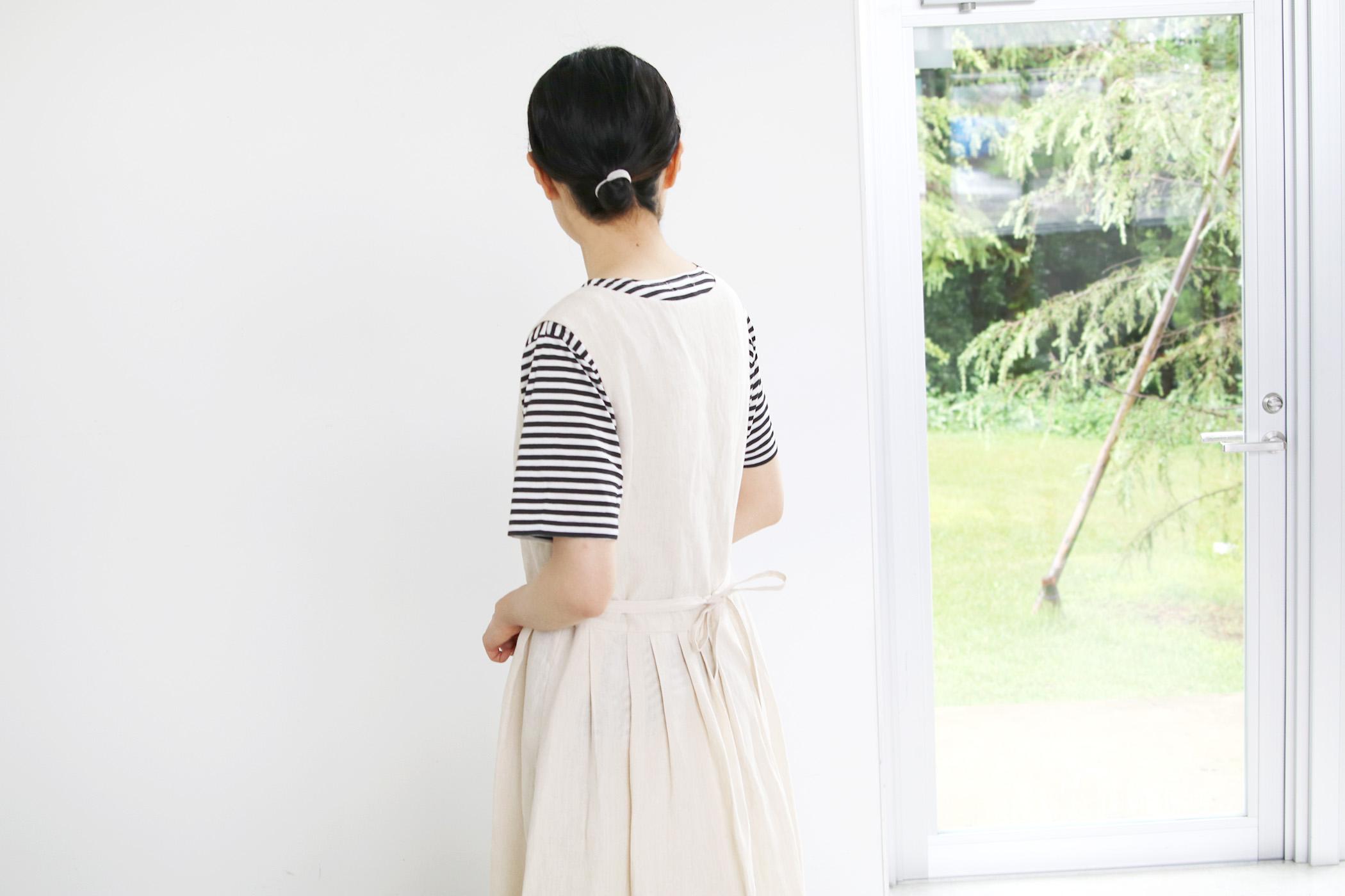 DENSELY LINEN CROSS OVER DRESS