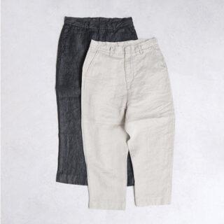 OLDMANS TAILOR オールドマンズテーラー  LINEN DENIM SARROUEL TAPERD PANTS【全2色】