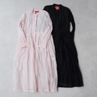 OLDMANS TAILOR オールドマンズテーラー |STEEL LINEN FRONT OPEN DRESS【全2色】