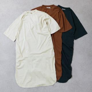 UNIVERSAL SEVEN ユニヴァーサルセヴン  USAコットン ポケットワンピース【全3色】