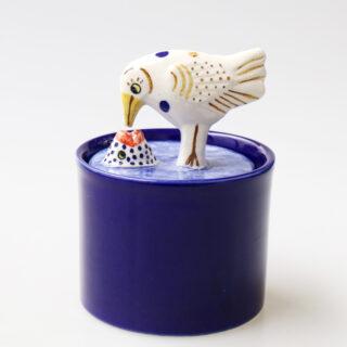 Lisa Larson リサラーソン  Jar with Lid【bird&fish】