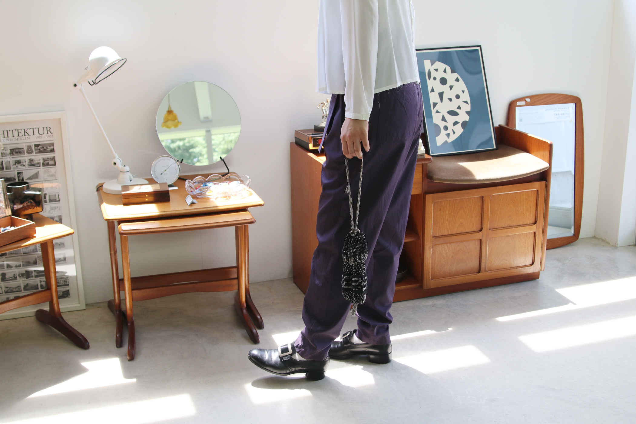 waist belt pants【全2色】